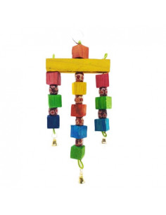 Pawzone Small Bird Toys - Tri Way Beads