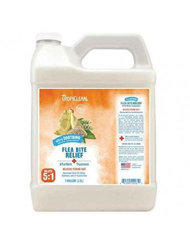 Tropiclean Natural Flea & Tick Shampoo Plus Soothing Gallon  3.8 Litres