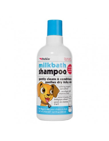PetKin Milk Bath Shampoo for Dogs & Cats 500 ml