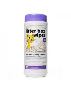 PetKin Litter Box Wipes - 40 Wipes