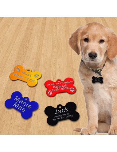 Pawzone Bone Shaped Customized Name Tags