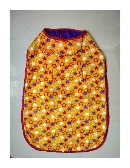 Pawzone Yellow  Lovely Hearts Winter Sweater For Big Dogs