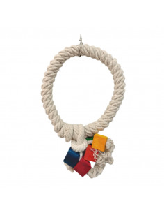 Natural Toy on a Sisal Rope Bird Toy