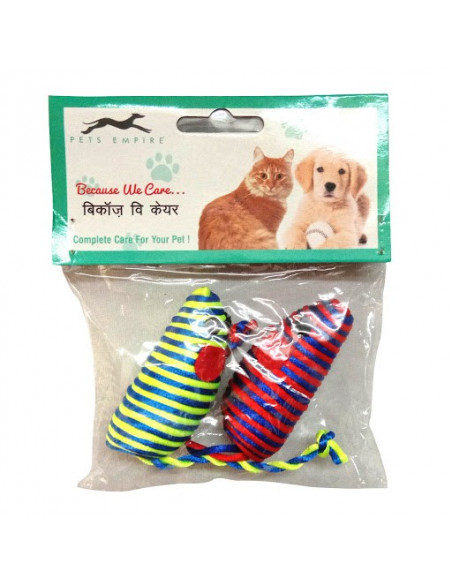 Pawzone Rat Shaped Fun Toy For Cats & Dogs