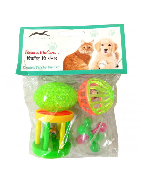 Pets Empire Six Column Barbell Toy