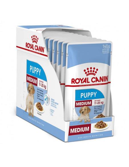 Royal Canin Puppy Medium Wet Gravy Pouches (10 pouches) 1.4kg