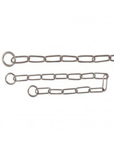 Trixie Long Link Choke chain, stainless steel,