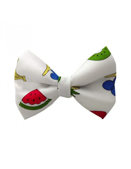 Pawzone stylish White With Fruits Bow for dogs