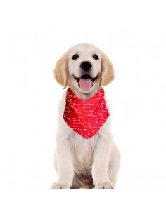 Pawzone Red Bandana Collar For Dogs