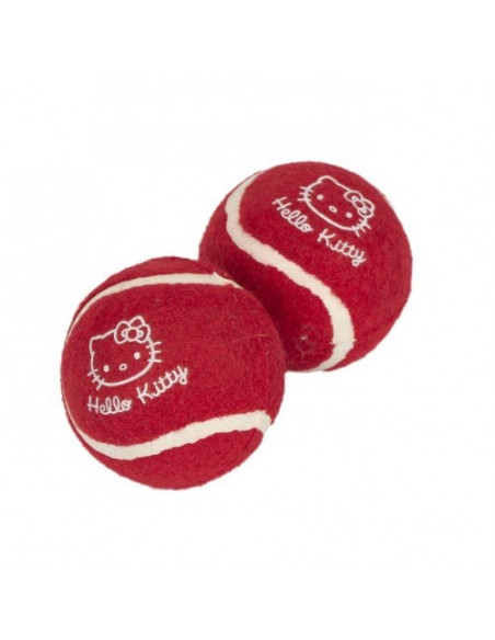 Pet Brand, Hello Kitty Tennis Balls Dog Toy 2pk