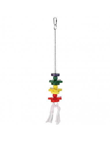 Colourful Wooden Bird Toy, 30 cm