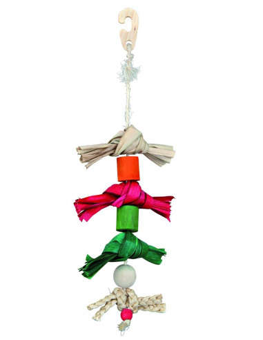 Natural Toy on a Sisal Rope for Birds, 38 cm