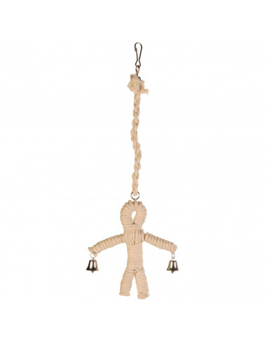Sisal Man Natural Bird Toys, 41 cm