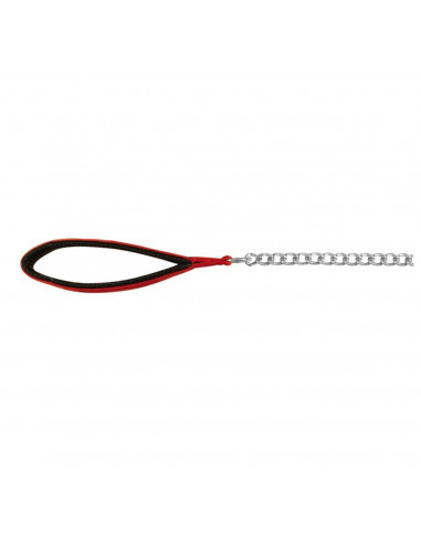 Trixie Chain Lead with Nylon Hand Loop, 3.60 ft (Red/Black)