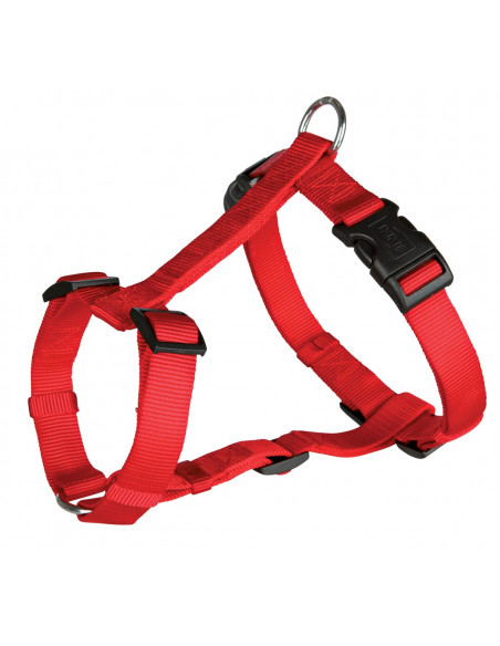 "Trixie Classic Harness - Medium -  20"" - 30""/25 mm - Red"