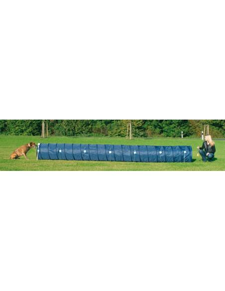 Trixie  Dog Activity Agility Basic Tunnel, ø 2 ft./16.5 ft., blue