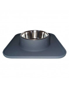 Smarty Pet Silicon Single Dinner Bowl Grey