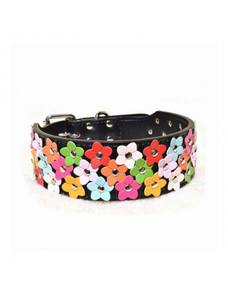 Pawzone Flower Collar Black For Dogs