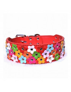 Pawzone Flower Collar Red For Dogs