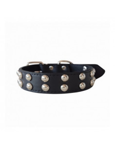 Pawzone Broad Two Row Studded Collar For Dogs