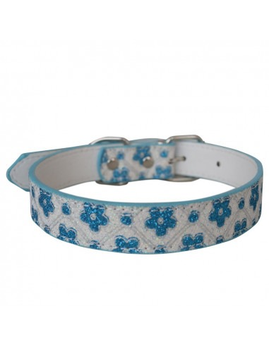 Designed  Flower attractive collar Blue,Large