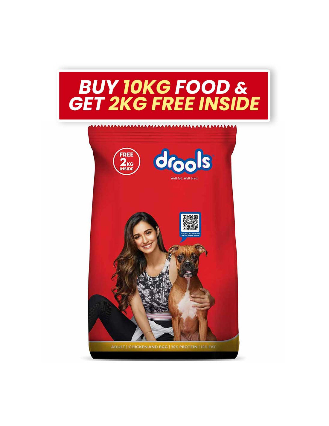 Drools Adult Chicken Egg Dog Food 10 Kg At Lowest Price Weight 10 Kg
