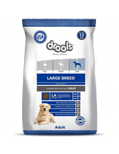 Drools Large Breed Adult Dog Food 12 Kg At Lowest Price Weight 12 Kg