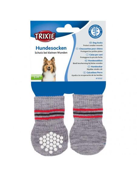 Dog Socks non-slip, Grey