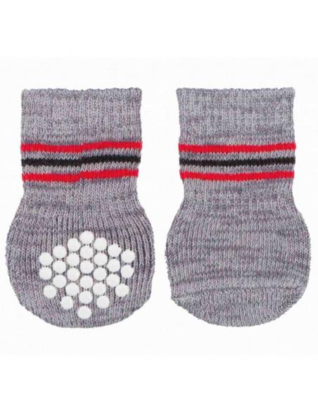 Trixie Dog Socks non-slip,Grey