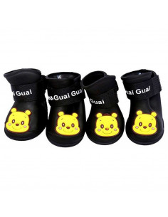 Pawzone Black Gummy Dog Shoes