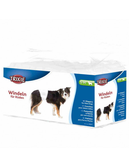 Trixie, Diapers for Male Dogs, Disposable 12pcs