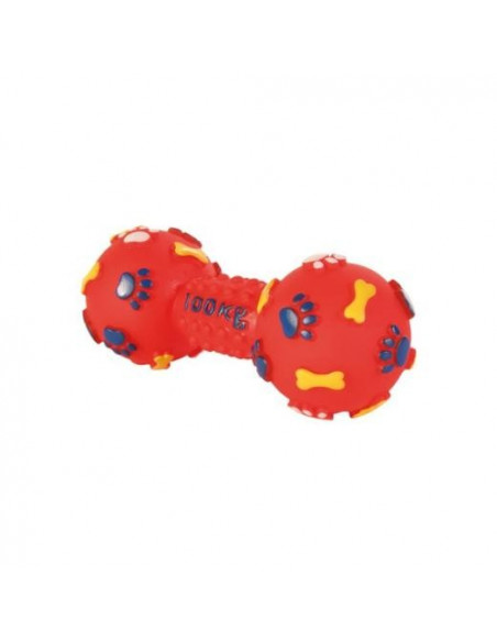 Trixie Dumbbell Vinyl Dog Toy Red