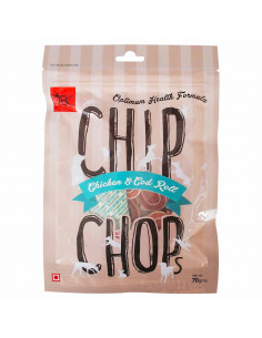 CHIP CHOPS Chip Chops Chicken & Codfish Rolls, 70gm