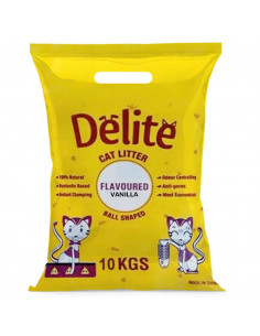 Delite Cat Litter For Cats Vanilla Flavoured 10 Kgs