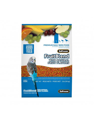 ZuPreem Fruit Blend For small Parrots, 907 Gms