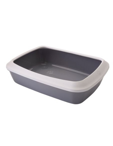Trixie Classic Cat litter tray with rim(Lite Grey/Dark Gray)