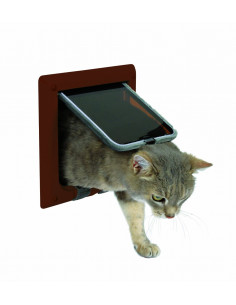 4-Way Cat Flap, brown