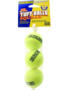 Petsport Tuff Balls Squeak Mesh  Medium 3pk