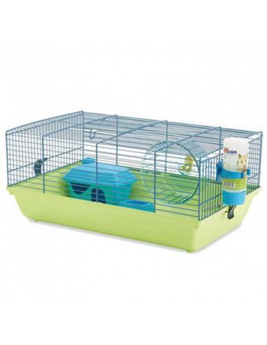 Savic Brilliant Blue Martha Hamster Cage, 19x12x8 inch