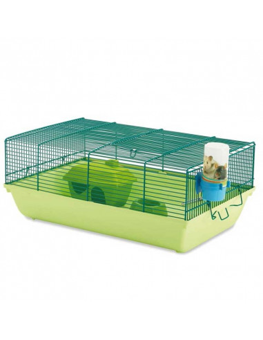 Stuart Hamster Cage Green 18x12x8 inches