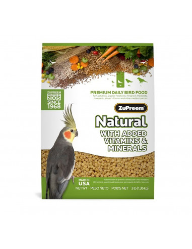 ZuPreem Natural For Medium Parrot 1.13 Kg