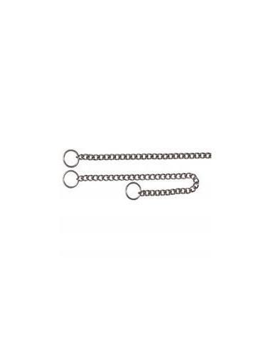 "Choke chain, stainless steel, 19.5""/2.5 mm"