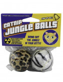 PET SPORT USA CATNIP JUNGLE BALLS CAT TOY, 2 PACK