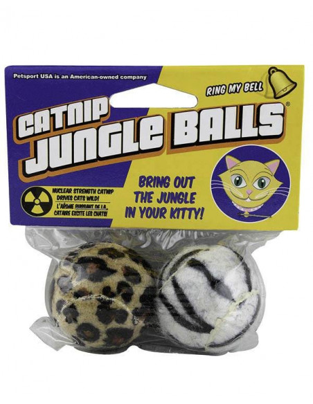 Petsports Catnip Jungle Balls Cat Toy 2 Pack
