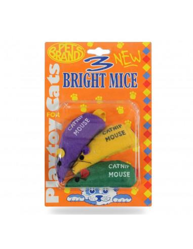 Pet Brands Three bright mice