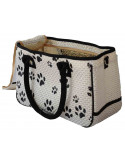 PawZone White Bag With Black Paw Print