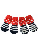 Pawzone Red Trendy Stars Socks for pets S