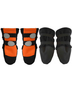Pawzone Orange double stripes Waterproof Shoes for Pets