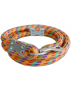 Pawzone Heavy Orange Dog Rope Leash for Big Dogs(Zink hook) 14mm