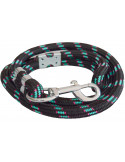 Pawzone Heavy Blue and black Dog Rope Leash for Big Dogs(Zink hook)16mm